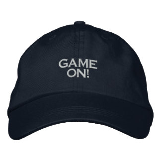 GAME ON, PC GAME PLAYER CAP EMBROIDERED HATS
