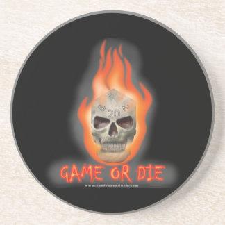 Game or Die Beverage Coaster