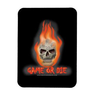 Game or Die Rectangular Magnet