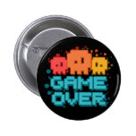 Game Over 2 Inch Round Button