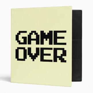 Game Over 3 Ring Binder