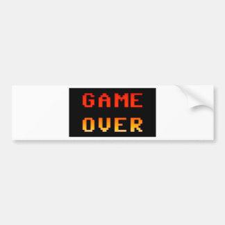 Game over 8bit retro bumper sticker