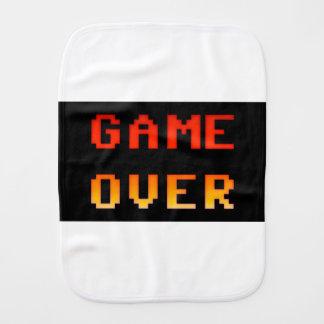 Game over 8bit retro burp cloth
