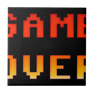 Game over 8bit retro ceramic tile