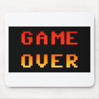 Game over 8bit retro mouse pad