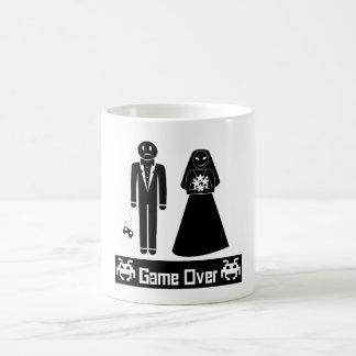 GAME OVER AFTER WEDDING MARRIAGE COFFEE MUG