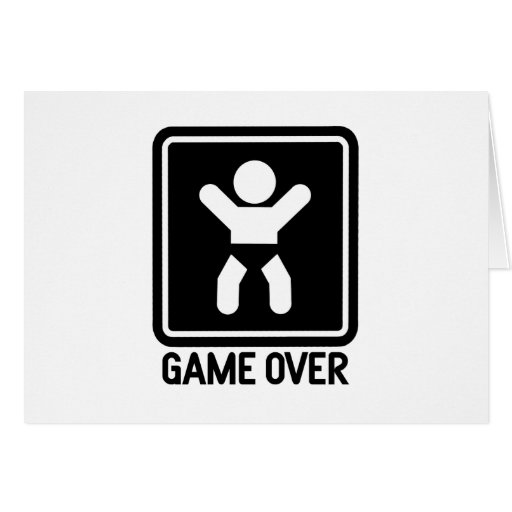 Game Over Baby Card