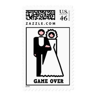 Game Over Bachelor Party Postage