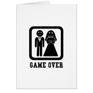Game Over | Bachelor Stag Party Gift (Black/White) Card