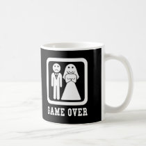 Game Over | Bachelor Stag Party Gift (Black/White) Coffee Mug
