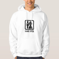 Game Over | Bachelor Stag Party Gift (Black/White) Hoodie