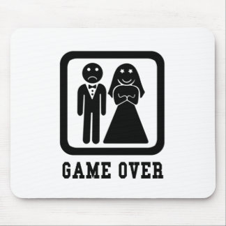 Game Over | Bachelor Stag Party Gift (Black/White) Mouse Pad