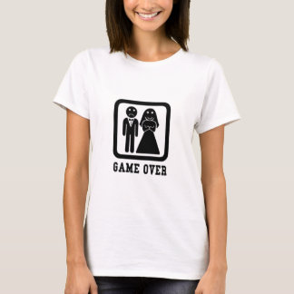 Game Over | Bachelor Stag Party Gift (Black/White) T-Shirt