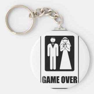 Game Over Basic Round Button Keychain