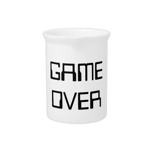 GAME OVER BEVERAGE PITCHERS