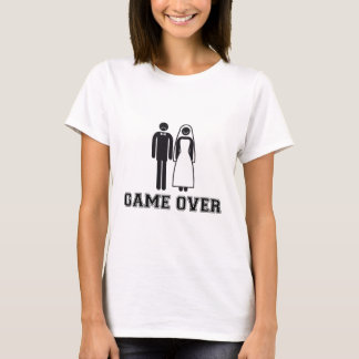 Game over, bride and groom, wedding couple T-Shirt