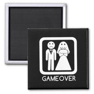 Game Over Bride & Groom Magnet