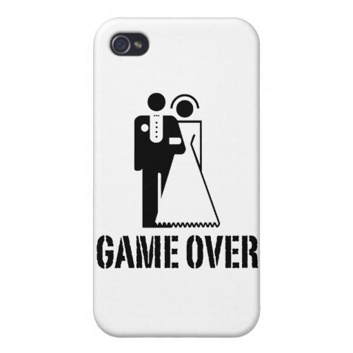 Game Over Bride Groom Wedding iPhone 4/4S Cover