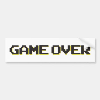 Game Over Car Bumper Sticker