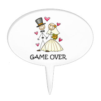 Game Over Cake Toppers
