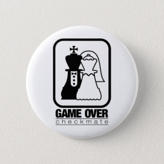 Game Over Check Mate Pinback Button