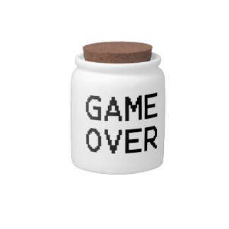 Game Over Classic Game Text Candy Jars