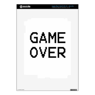 Game Over Classic Game Text iPad 3 Decals