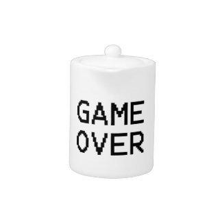 Game Over Classic Game Text Teapot