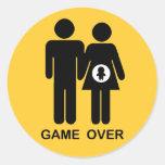 Game Over Classic Round Sticker