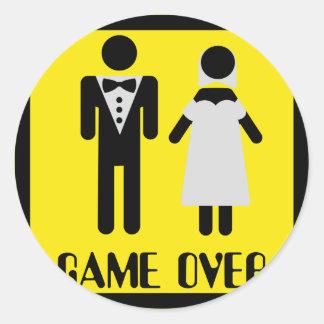 game over couple round sticker