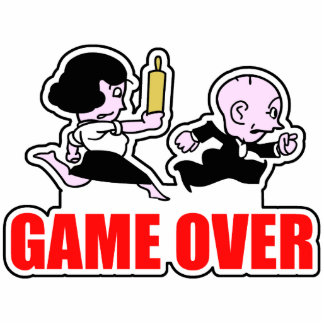 Game Over Couples Cutout