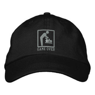 Game Over Dad Embroidered Baseball Cap