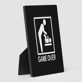 Game Over Dad Funny Pictogram Plaque