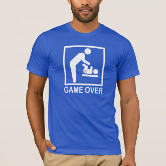 Game Over Dad Funny Pictogram T-Shirt