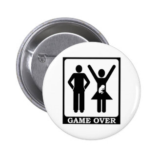 Game Over - Dad To Be Pinback Buttons