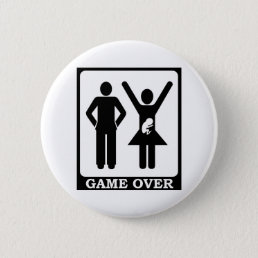 Game Over - Dad To Be Pinback Button