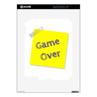 Game over decal for iPad 2