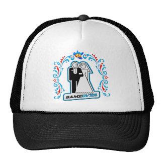 Game Over Deco Wedding Bride and Groom Trucker Hat