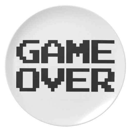 Game Over Dinner Plate