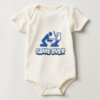 Game over Drinking and puking Funny Baby Bodysuit