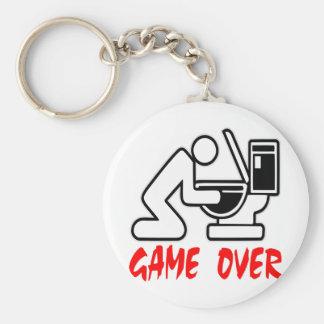 Game Over Drunk Basic Round Button Keychain