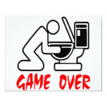 Game Over Drunk Card