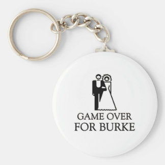 Game Over For Burke Basic Round Button Keychain