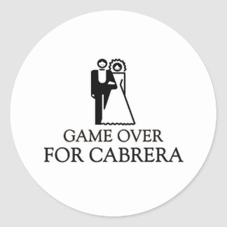 Game Over For Cabrera Round Stickers