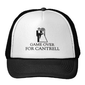 Game Over For Cantrell Trucker Hat