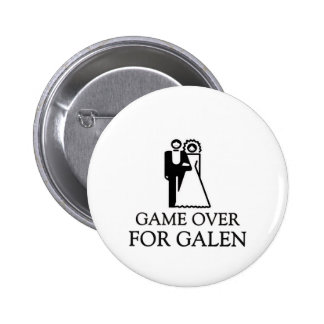 Game Over For Galen Pinback Button