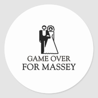 Game Over For Massey Round Stickers