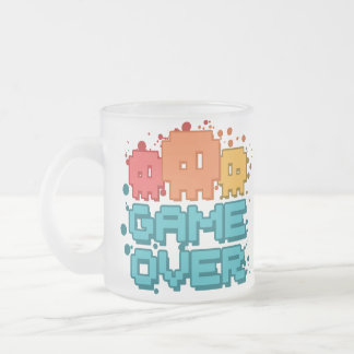 Game Over Frosted Glass Coffee Mug
