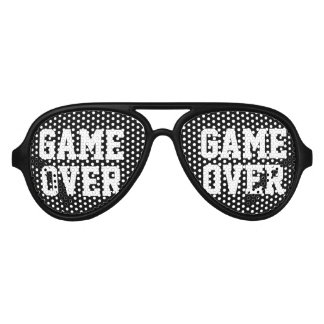 Game Over funny bachelor party shades for groom
