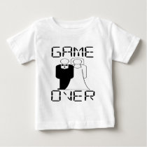 GAME OVER Funny Wedding Design Baby T-Shirt